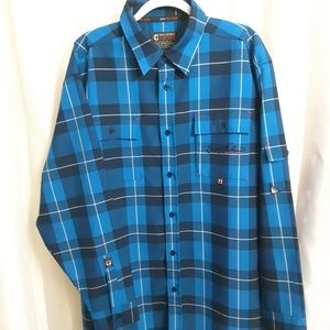 South Pole Long Sleeve Button Up Shirt